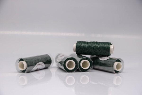 """Нить """"GALACES"""" вощеная плоская 0,8 мм. Темно-зеленая-s078m"""