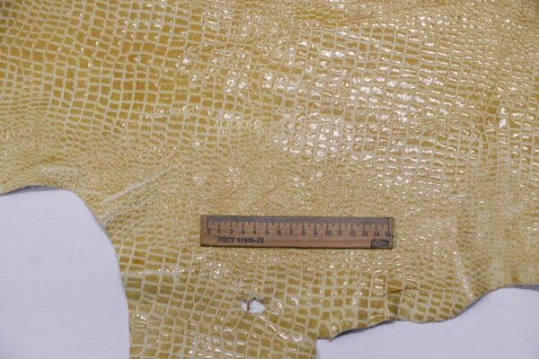 Лак КРС с тиснением под кроко, бежевый, 132 дм2.-AB1-103