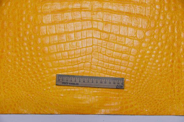 Кожа КРС с тиснением, желтая, 215 дм2.-AB1-106