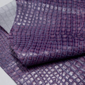 Кожа КРС с тиснением под кроко, фиолетовая, 74 дм2.-AB1-98