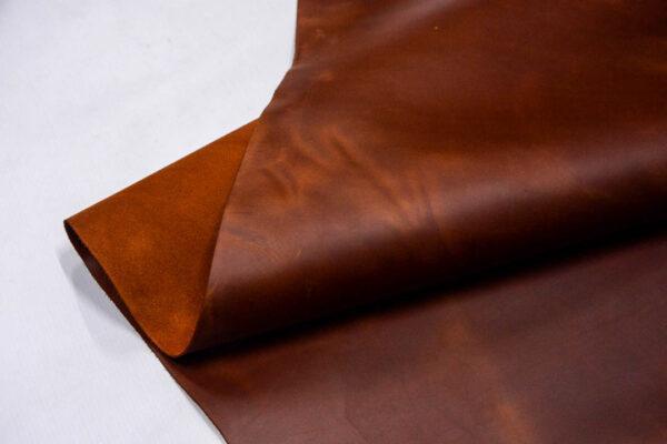 Кожа КРС крейзи хорс (Crazy Horse) с эффектом пул ап (Pull Up), рыже-коричневая, 118 дм2.-D1-159