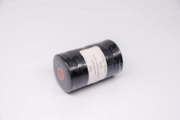 Нить вощенная 1 мм. Чёрная (SIM 1), 500 м.