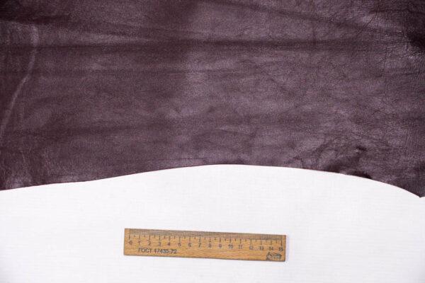 Кожа МРС, бордовая, 33 дм2. -109613