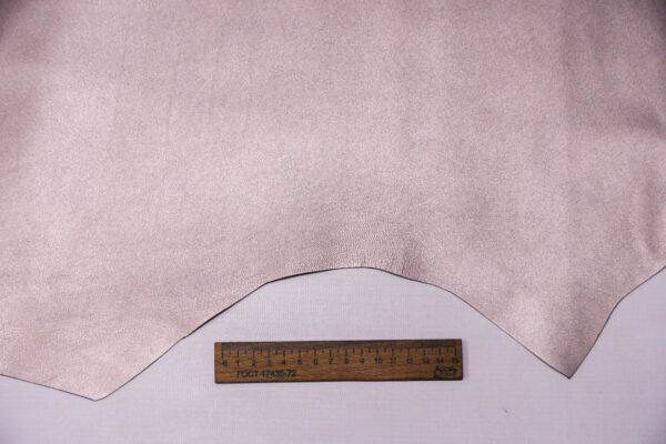 Кожа МРС, серо-сиреневый металлик, 33 дм2. -109630