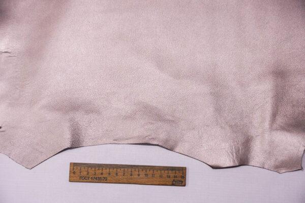 Кожа МРС, серо-сиреневый металлик, 40 дм2. -109632