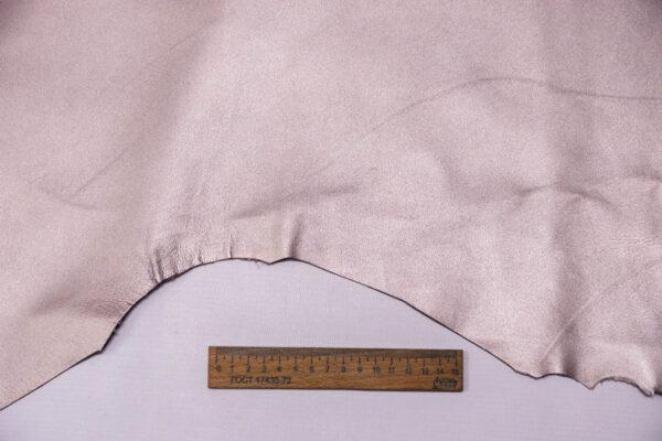 Кожа МРС, серо-сиреневый металлик, 38 дм2. -109635