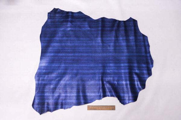 Кожа МРС с тиснением, синяя, 41 дм2, Conceria Stefania S. p. A. -109645
