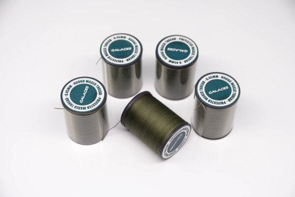 """Нить """"GALACES"""" вощеная круглая 0,45 мм. Темно-оливковая-s055"""