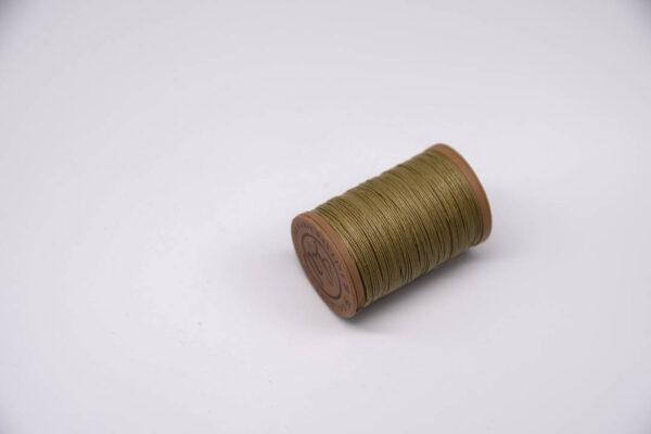"""Нить """"GALACES"""" вощеная круглая 0,55 мм. Волокно RAMIE. Хаки-m011"""