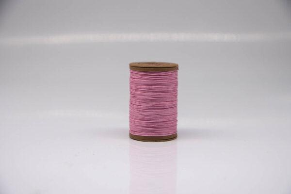 """Нить """"GALACES"""" вощеная круглая 0,55 мм. Волокно RAMIE. Розовая-m017"""