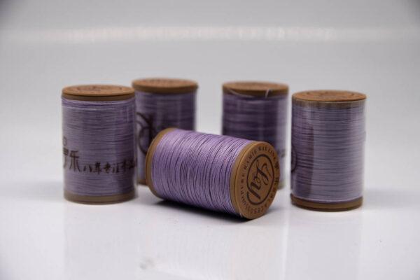 """Нить """"GALACES"""" вощеная круглая 0,55 мм. Волокно RAMIE. Сиреневая-m023"""