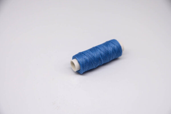 """Нить """"GALACES"""" вощеная круглая 0,55 мм. Голубая-s036"""
