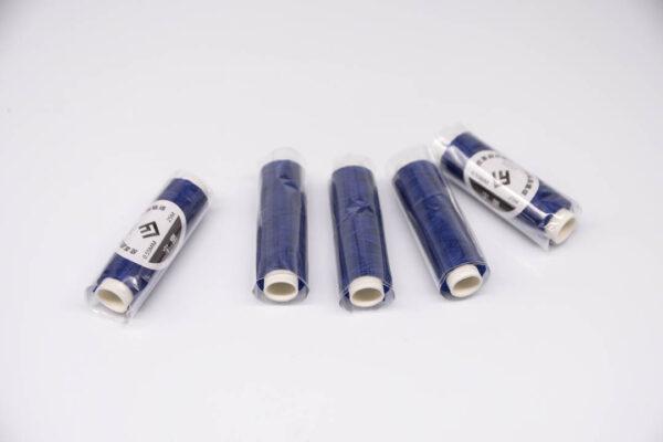 """Нить """"GALACES"""" вощеная круглая 0,55 мм. Ярко-синяя-s037"""
