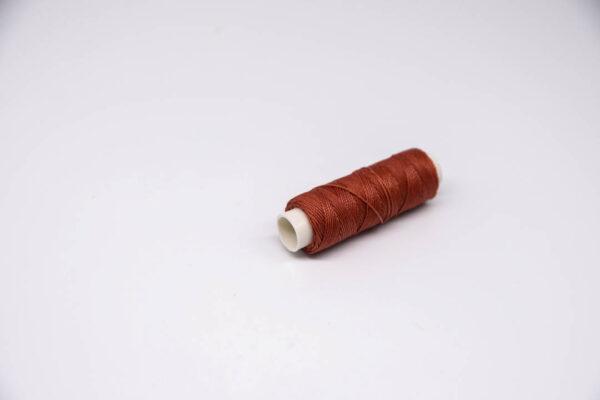 """Нить """"GALACES"""" вощеная круглая 0,55 мм. Темно-красная-s044"""