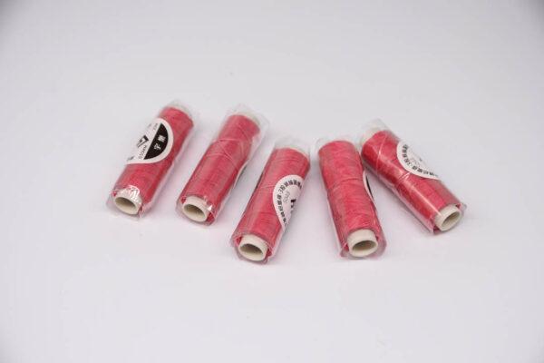"""Нить """"GALACES"""" вощеная круглая 0,55 мм. Розовая фуксия-s048"""