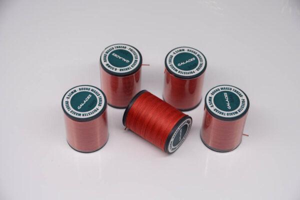 """Нитка """"GALACES"""" воскована кругла 0,55 мм. Червона-s049"""
