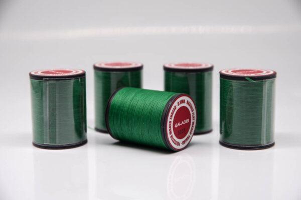 """Нить """"GALACES"""" вощеная плоская 0,8 мм. Зеленая-s035"""