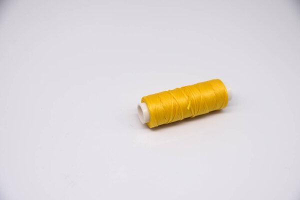 """Нить """"GALACES"""" вощеная плоская. Желтая-s041"""
