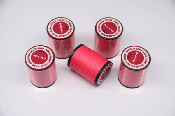 """Нить """"GALACES"""" вощеная плоская 0,8 мм. Розовая фуксия-s048"""