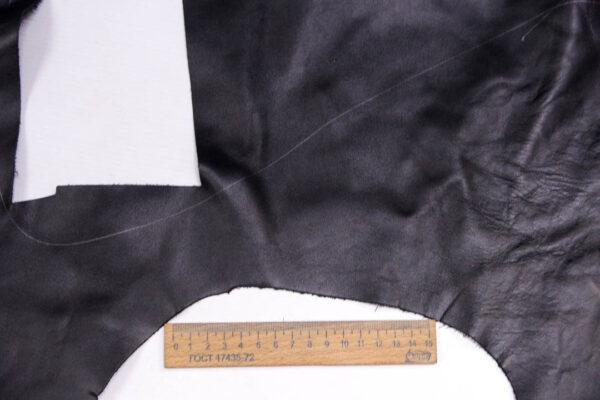 Кожа КРС, черная, 20 дм2.-1-382