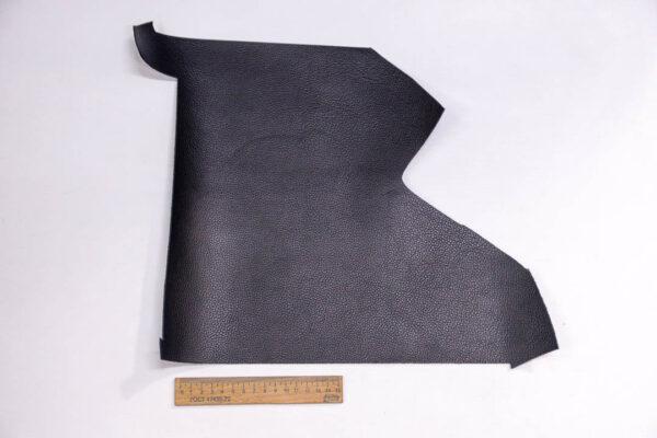 Кожа КРС, двухсторонний доллар (Dollaro), черная, 10 дм2.-1-394