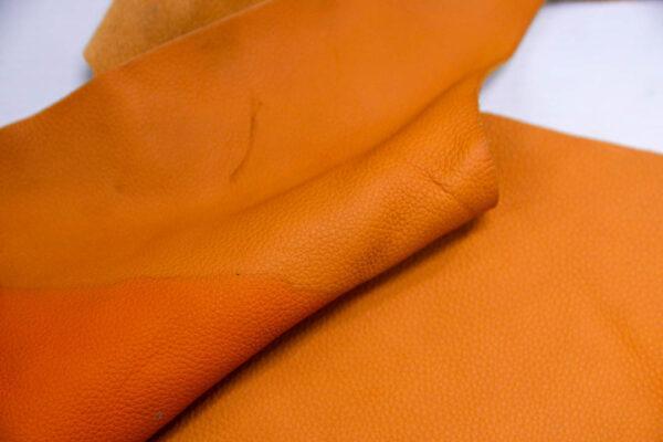 Кожа КРС, флотар, оранжевая, 15 дм2.-1-398