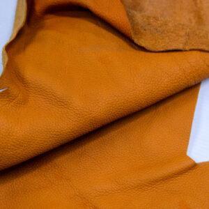 Кожа КРС, флотар, оранжевая, 22 дм2.-1-400