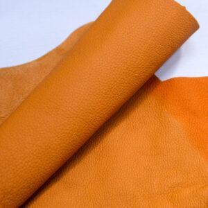 Кожа КРС, флотар, оранжевая, 19 дм2.-1-401