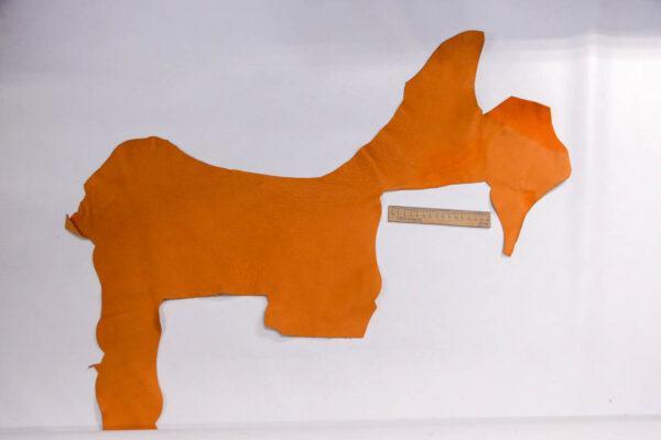 Кожа КРС, флотар, оранжевая, 15 дм2.-1-403