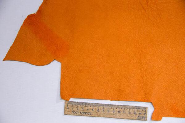 Кожа КРС, флотар, оранжевая, 13 дм2.-1-404
