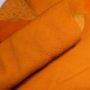 Кожа КРС, флотар, оранжевая, 23 дм2.-1-405