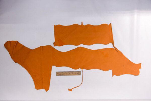Кожа КРС, флотар, оранжевая, 20 дм2.-1-406