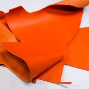 Кожа КРС, морковная, 14 дм2.-1-416