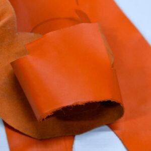 Кожа КРС, морковная, 14 дм2.-1-417