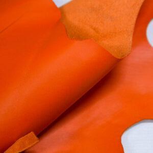 Кожа КРС, морковная, 14 дм2.-1-418