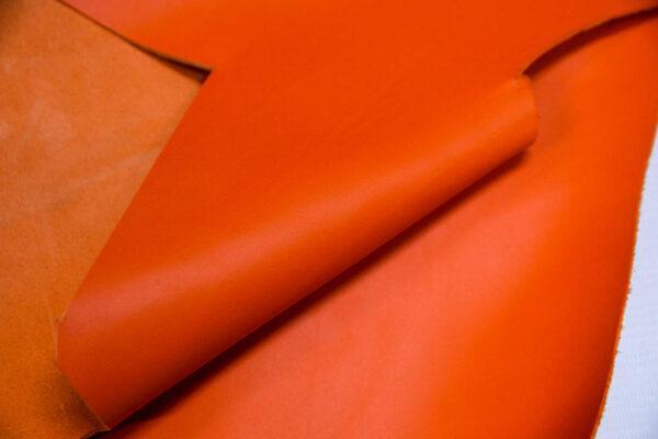 Кожа КРС, морковная, 21 дм2.-1-420