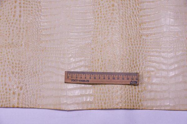 Кожа КРС с тиснением, светло-бежевая, 104 дм2.-AB1-95