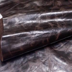 Кожа КРС с эффектом пул ап (Pull Up), темно-коричневая, 112 дм2.-D1-191
