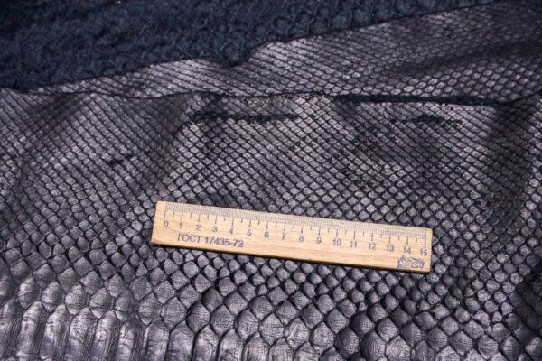 Кожа питона, чёрная, 420х37 см.-zm3-15