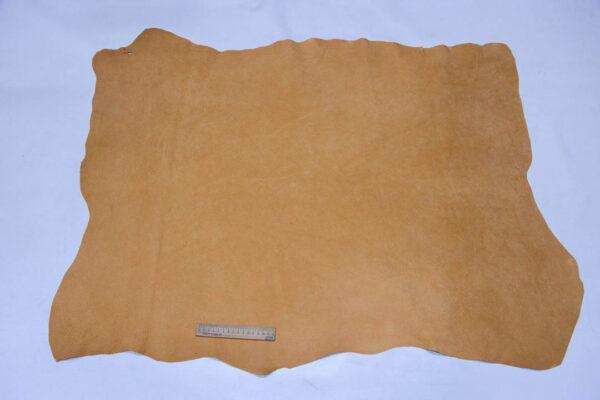 Кожподклад свиной (спилок), песочный, 9,25 фут (86 дм2).-401081