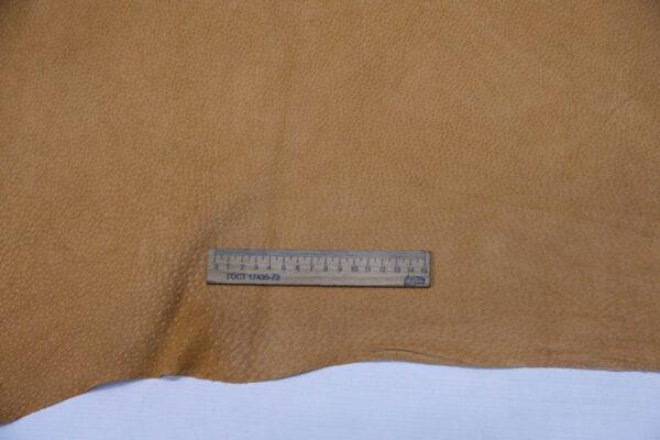 Кожподклад свиной (спилок), песочный, 9,75 фут (91 дм2).-401082