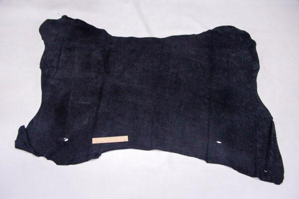 Кожподклад свиной (спилок), черный, 85 дм2.-401090