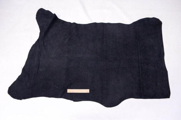 Кожподклад свиной (спилок), черный, 77 дм2.-401092