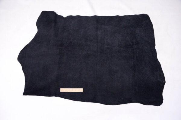 Кожподклад свиной (спилок), черный, 73 дм2.-401093