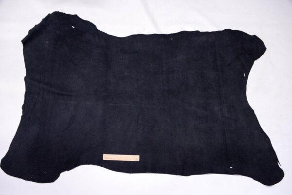 Кожподклад свиной (спилок), черный, 93 дм2.-401094