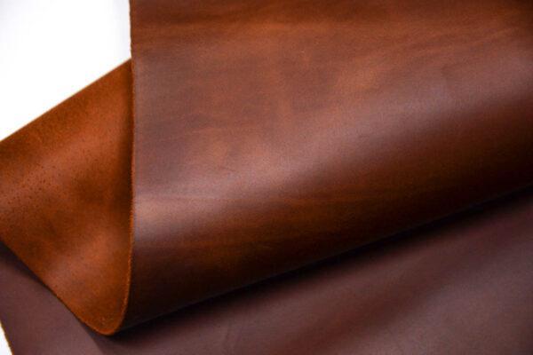 Кожа КРС крейзи хорс (Crazy Horse) с эффектом пул ап (Pull Up), рыже-коричневая, 135 дм2.-D1-217