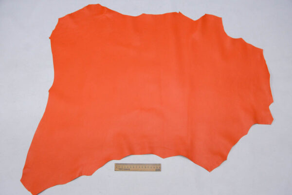 Кожа МРС, морковная, 50 дм2.-109741