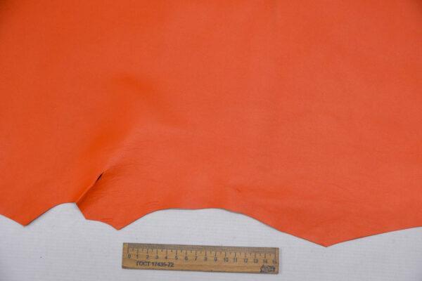 Кожа МРС, морковная, 51 дм2.-109743