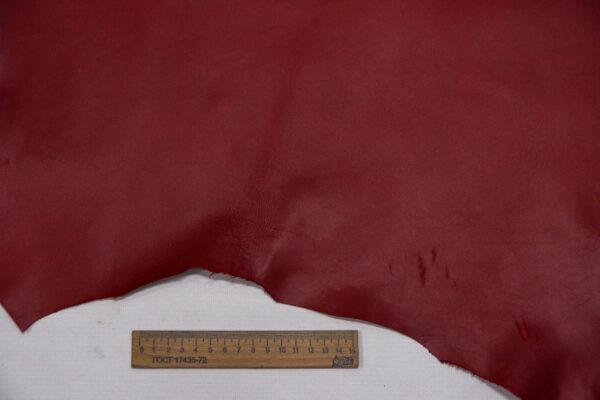 Кожа МРС, темно-красная, 37 дм2.-109754