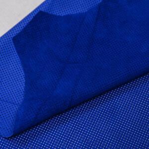 Велюр одежный МРС с перфорацией, ярко-синий, 46 дм2, Bonaudo S.p.A.-109775